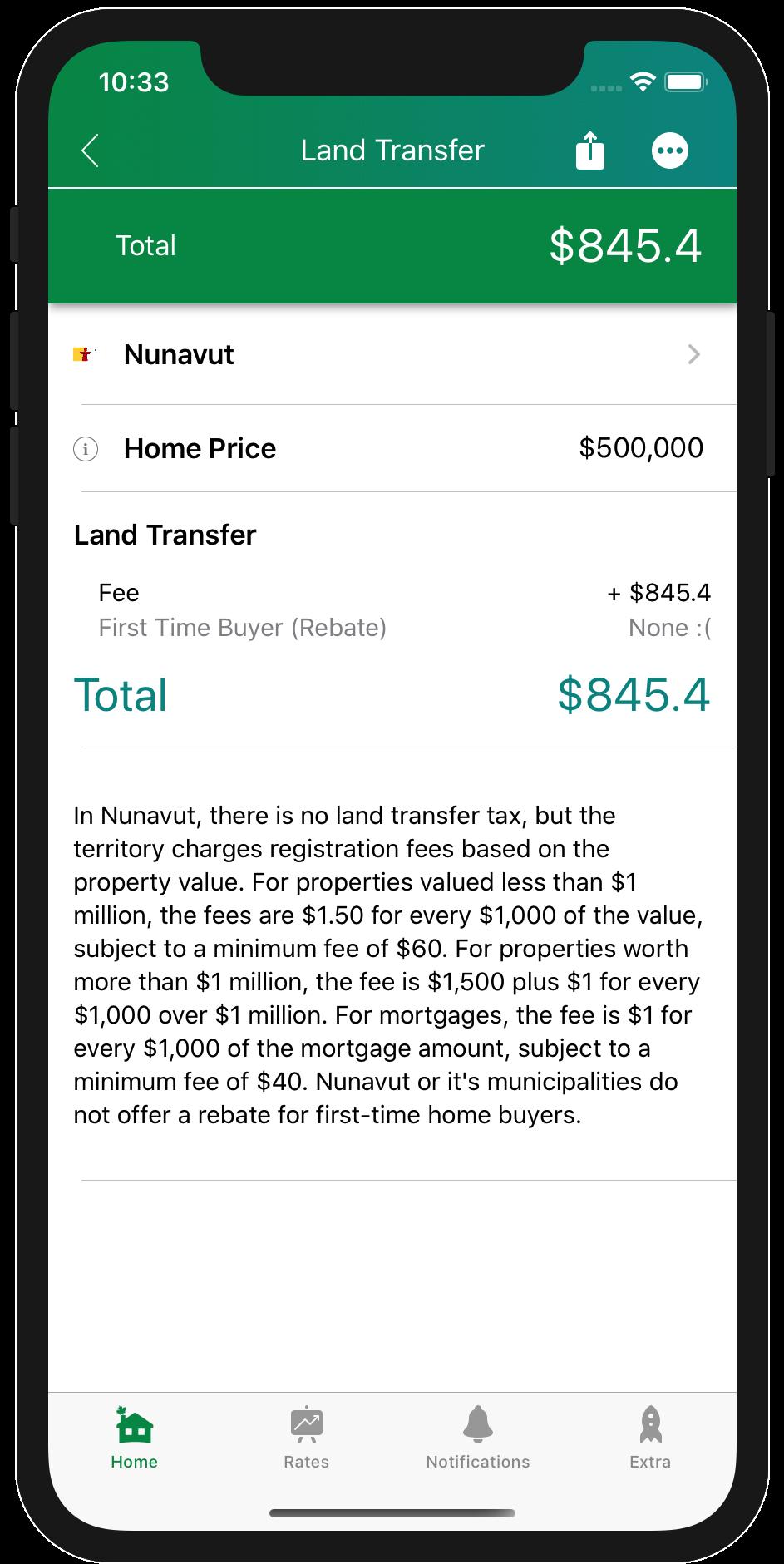 Land Transfer Tax Nunavut
